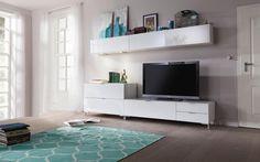 Wohnwand in hochglänzendem Weiß: Qualität von CS SCHMAL