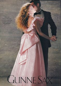"1980s Gunne Sax dress by Jessica McClintock...the ""IT"" brand for high school dances."
