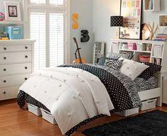 "Pottery Barn Teen > room decorated with ""zebra"" theme :) My New Room, My Room, Girl Room, Casa Clean, Girls Bedroom Furniture, Decoration Bedroom, Home Hacks, Room Organization, Dream Bedroom"