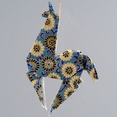 origami ornaments | Origami Animal Christmas Ornaments, Paper Animal Holiday Ornaments ...
