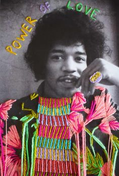 Embroidered cultural heroes - in pictures An embroidered photograph by Jimi Hendrix by the Mexican artist Victoria Villasana Mexican Textiles, Mexican Artists, A Level Art, Learn Art, Identity Art, Arte Pop, Textile Artists, Jimi Hendrix, Embroidery Art