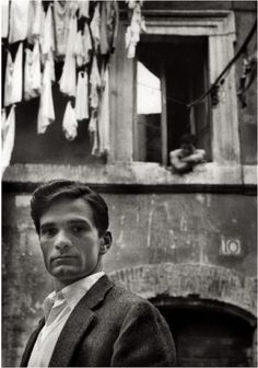 """""""Writer Pier Paolo Pasolini in Rome"""" 1953, photo by German photographer HERBERT LIST (1903/1975)"""