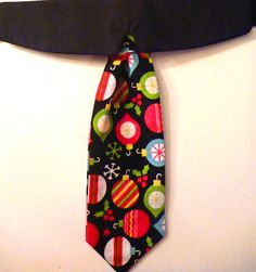 Shirt Collar & Neck Tie - Christmas Shirt Collar - Christmas Ornaments by katiesk9kollars on Etsy