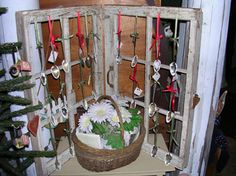 rustic window panes. Display idea for  Amy Louise Jewelry.