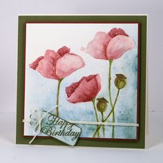 Pink poppies Heather Telford - Heather's cards are SO beautiful!!