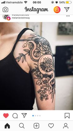 Tattoo Snake Sleeve Roses Super Ideas You are in the right place about tattoo quotes ank Upper Arm Tattoos, Foot Tattoos, Forearm Tattoos, Body Art Tattoos, New Tattoos, Tribal Tattoos, Tattoos For Guys, Tattoo Arm, Half Sleeve Tattoo Upper Arm