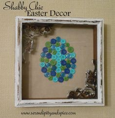 Shabby Chic Easter Wall Decor - Serendipity and Spice