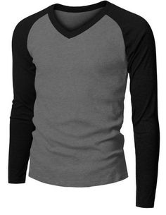 Doublju Casual Long sleeve Raglan V-Neck