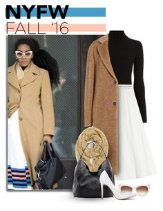 """NYFW Fall 2016"" by caroline-brazeau ❤ liked on Polyvore featuring Warehouse, Vionnet, Maison Margiela, Trilogy, Linea Pelle, Thierry Lasry, women's clothing, women, female and woman"