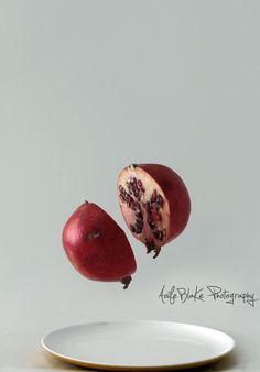 Floating / Levitating Pomegranate Fruit by Aoife Blake Photography