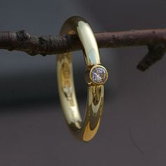 Handmade 18 Carat Gold Solitaire Ring