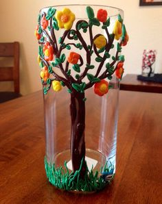 Sunny Days Decorative Vase by HeartOfTrees on Etsy, $24.95 Decorating Vases, Vases Decor, Polymer Clay Flowers, Flowering Trees, Flower Vases, Small Businesses, Sunny Days, Spring Summer, Group