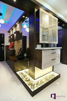 Wooden Partition Design, Living Room Partition Design, Pooja Room Door Design, Room Partition Designs, Ceiling Design Living Room, Foyer Design, Modern Room Design, Flat Interior Design, Wardrobe Interior Design
