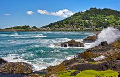 ❤❤❤ Beautiful Yachats, Oregon Coast 24.2 Miles South of Newport. 12 October 2015. ❤❤❤