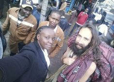 A white man resembling Jesus of Nazareth as portrayed in many gospel movies caused a near stampede as he walked barefoot on wet streets of Nairobi. Doubting Thomas, Thick Beard, African Traditions, Walking Barefoot, Long Beards, Taking Selfies, Jesus Pictures, Western Movies, Nairobi