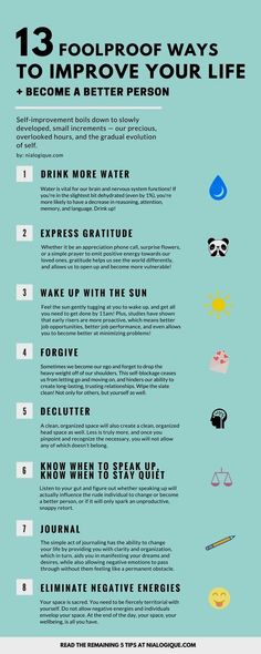 13 Foolproof Ways to Improve Your Life and Become a Better Person Thank you for . - 13 Foolproof Ways to Improve Your Life and Become a Better Person Thank you for your post! Be A Better Person, Better Life, Info Board, Tips & Tricks, How To Better Yourself, Healthy Mind, Best Self, Self Development, Personal Development