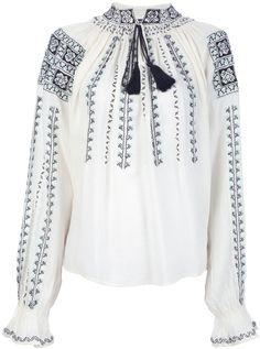Antik Batik 'Sylla' peasant blouse