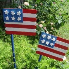 Wooden Stick Garden Flags