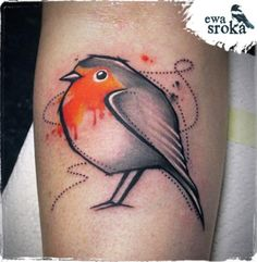 Robin Tattoo by Ewa Sroka