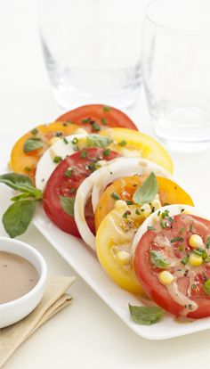 Heirloom Tomato Salad - I can't wait for fresh summer tomatoes #MarzettiRecipes #Spon