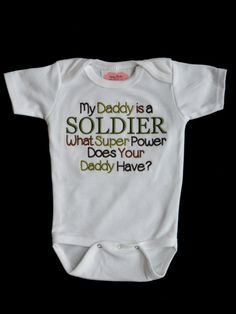 Army Camo Baby Boy Clothes Military Baby Clothes by LilMamas. Except change to Airman!!