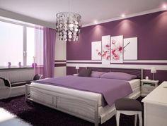 Cómo combinar paredes en violeta : PintoMiCasa.com