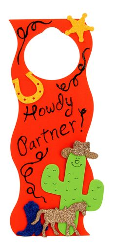 Nicole™ Crafts Glittzer Cowboy Door Hanger #kids #crafts