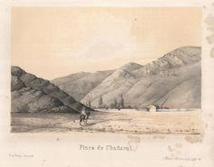"""""""Finca de Chañaral"""". Viaggio nel Deserto di Atacama (Cile) del 1853-54. #viaggi #cile #atacama #esplorazioni #illustrazioni"""