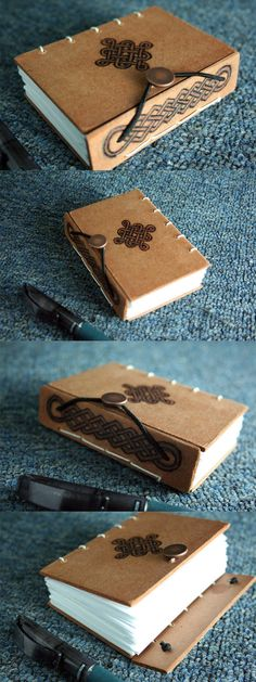 Wooden Celtic Book by yagarasu