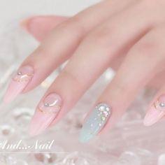 pink mint blue nail art Very interesting nail art design idea for the new year. Korean Nail Art, Korean Nails, Pretty Nail Designs, Nail Art Designs, Kawaii Nail Art, Les Nails, Stiletto Nail Art, Coffin Nails, Japanese Nail Art