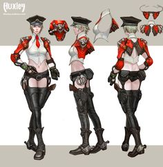 In-Game :: 헉슬리 Character Model Sheet, Character Modeling, Character Design, 2d Art, Concept Art, Art Reference, Sci Fi, Sketches, Manga