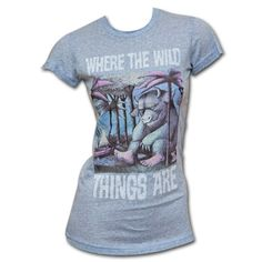 Where The Wild Things Are Powder Blue Juniors T-shirt Sexy Librarian, The Big Lebowski, Wild Things, Pictures To Draw, Mom Style, Go Shopping, Tshirt Colors, Maurice Sendak, Comfort Zone