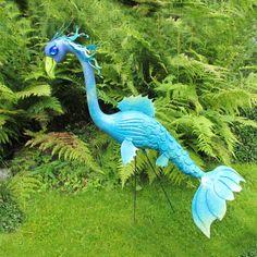 Sea Dragon or Mermaid Flamingo: Handmade garden art - a reinvented Pink Plastic Flamingo for the gardener who has everything. $60.00, via Etsy.