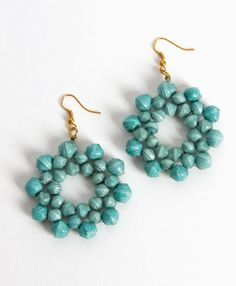 Noonday Collection:  Bloomed Paper Earrings $28