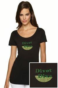"Women's ""Divot Diva"" Bling Golf T-Shirt."