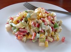 Colourful ... crispy ... delicious ... salad with peppers