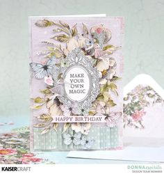 """Make Your Own Magic"" Card by Donna Espiritu Design Team member for Kaisercraft Official Blog. Donna used the March 2018 Fairy Garden Collection. Learn more at kaisercraft.com.au - Wendy Schultz - Kaisercraft Projects."