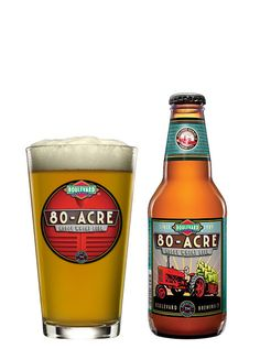 Boulevard 80 Acre IPA- hoppy wheat beer, 20 IBUs and ABV. Smooth and easy drinking. Farmhouse Ale, Wheat Beer, Beers Of The World, Beer Packaging, Beer Label, Branding, Brewing Company, Beer Lovers, Commercial Ads