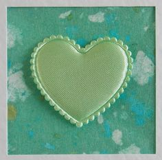 I Love You Card, blank, wedding, engagement, anniversary, birthday, green heart, turquoise, contemporary, modern, with envelope, no message by CardArtSmart on Etsy