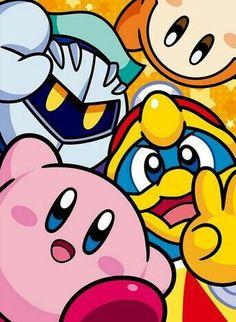 Kirby, Meta Knight, King Dedede, Waddle Dee; Kirby