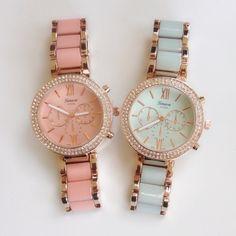 Color Bracelet Rhinestone Watch b – shopebbo