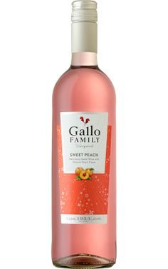 Gallo Family Vineyards Sweet Peach NV / 750 ml. Sweet Wine List, Vodka, Peach Wine, Sweet Red Wines, Wine Sale, Wine Baskets, Sweet Peach, Wine Fridge, Alcoholic Drinks