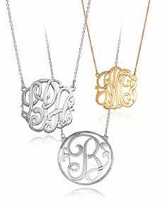 Christmas 2013: Monogrammed necklace