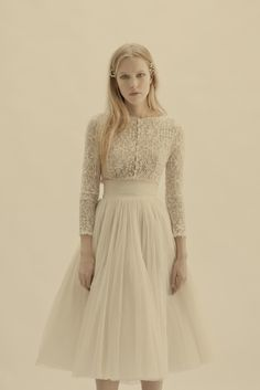 If the current Mr Ward-Brown doesn't take long-term, and I get married again, and thin, this is the dress. Bárbara Vidal: CORTANA Wedding Dresses 2013