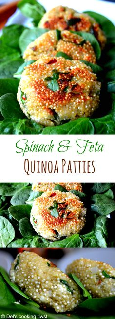 These spinach & feta quinoa patties are always a HUGE success- An amazing way to eat your veggies! | Del's cooking twist