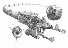 steampunk spaceships sketches - Pesquisa Google