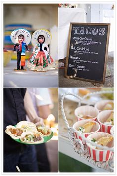 Food Fridays: Cool Food Bar Ideas on http://villarussocatering.com