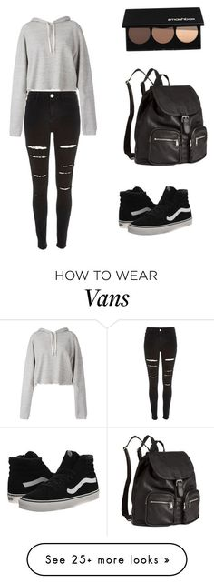 """""""Untitled #294"""" by noamtmc on Polyvore featuring Faith Connexion, H&M, Smashbox, River Island and Vans"""