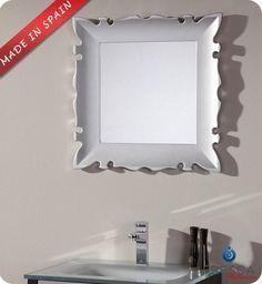 "Fresca Platinum Versalles 24"" Bathroom Mirror - Silver Gloss FPMR7512SL - modern - Bathroom Mirrors - New York - Exotic Home Expo"
