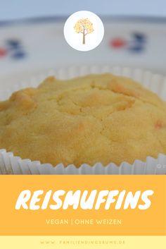Reismuffins, vegan und ohne Weizen für Allergiker und alle, die es gerne ohne Hühnerei, Kuhmilch und Weizen mögen